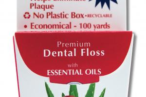 PREMIUM DENTAL FLOSS WITH ESSENTIAL OILS, CRANBERRY-ALOE VERA
