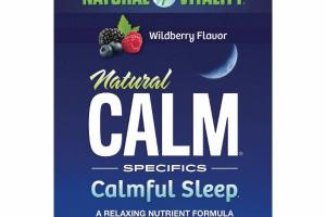WILDBERRY NATURAL CALM SPECIFICS CALMFUL SLEEP DIETARY SUPPLEMENT