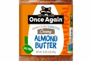 NATURAL UNSWEETENED & ROASTED CREAMY ALMOND BUTTER
