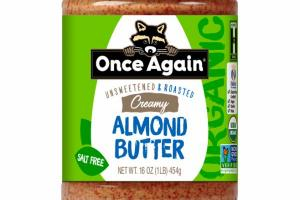 CREAMY SWEETENED & ROASTED ORGANIC ALMOND BUTTER