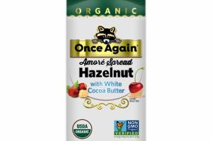 ORGANIC HAZELNUT WITH WHITE COCOA BUTTER AMORE SPREAD