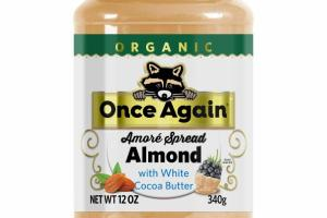 ORGANIC AMORE SPREAD ALMOND WITH WHITE COCOA BUTTER