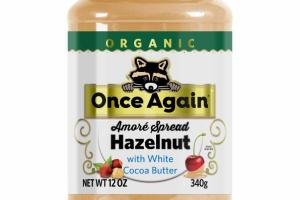 ORGANIC AMORE SPREAD HAZELNUT WITH WHITE COCOA BUTTER