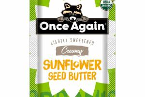 ORGANIC LIGHTLY SWEETENED CREAMY SUNFLOWER SEED BUTTER