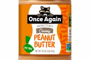 NATURAL UNSWEETENED CREAMY PEANUT BUTTER