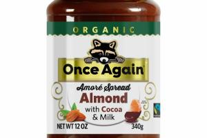 ORGANIC ALMOND AMORE SPREAD WITH COCOA & MILK