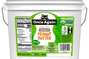 ORGANIC UNSWEETENED CRUNCHY PEANUT BUTTER