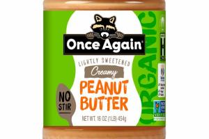 LIGHTLY SWEETENED CREAMY PEANUT BUTTER