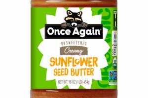 UNSWEETENED CREAMY SUNFLOWER SEED BUTTER