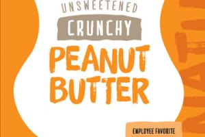 NATURAL UNSWEETENED CRUNCHY PEANUT BUTTER