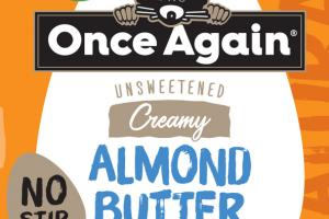 UNSWEETENED CREAMY ALMOND BUTTER