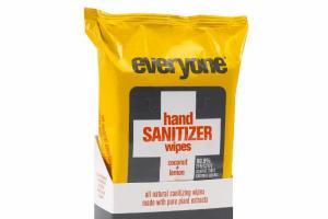 HAND SANITIZER WIPES, COCONUT + LEMON