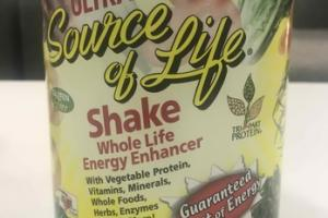ULTRA SOURCE OF LIFE SHAKE WHOLE LIFE ENERGY ENHANCER