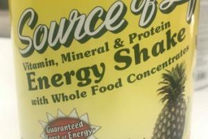 ENERGY DRINK WITH WHOLE FOOD CONCENTRATE