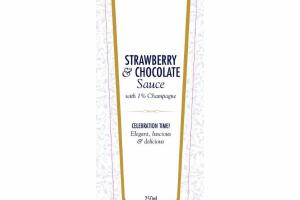STRAWBERRY & CHOCOLATE SAUCE WITH 1% CHAMPAGNE