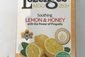 LEMON & HONEY MANUKA HONEY LOZENGES MGO 263+ FOOD SUPPLEMENT