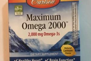 MAXIMUM OMEGA 2000 BLISTER PACKS DIETARY SUPPLEMENT SOFT GELS, NATURAL LEMEON