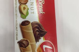 Rolled Wafer Filled With Hazelnut Cream