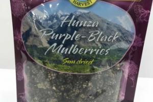 ORGANIC SUN DRIED HUNZA PURPLE-BLACK MULBERRIES