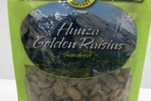 HUNZA GOLDEN RAISINS SUN DRIED