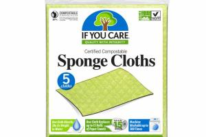 CERTIFIED COMPOSTABLE SPONGE CLOTHS