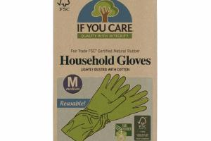 REUSABLE! LIGHTLY DUSTED WITH COTTON MEDIUM HOUSEHOLD GLOVES