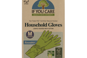 LIGHTLY DUSTED WITH COTTON HOUSEHOLD GLOVES, MEDIUM