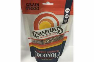 COFFEE CRUNCH COCONOLA COCONUT REAL GRANOLAS