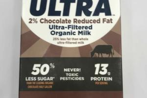 LACTOSE FREE ULTRA-FILTERED ORGANIC MILK