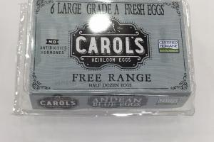 6 Large Grade A Fresh Eggs