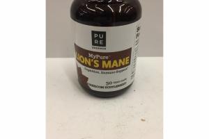 MYPURE LION'S MANE MUSHROOM SUPPLEMENT VEGI-CAPS