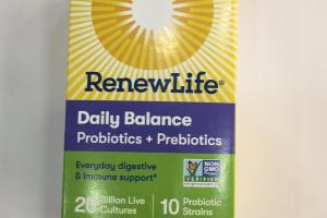 Daily Balance Vegetarian Capsules Probiotic Supplement