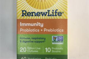 Immunity Probiotics + Prebiotics Vegetarian Capsules, Probiotic Supplement