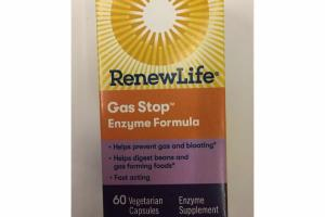 GAS STOP ENZYME FORMULA VEGETARIAN CAPSULES ENZYME SUPPLEMENT