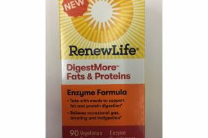 DIGESTMORE FATS & PROTEINS ENZYME FORMULA VEGETARIAN CAPSULES ENZYME SUPPLEMENT