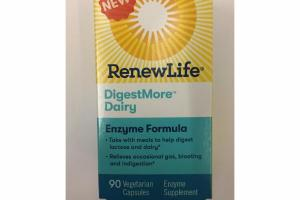DIGESTMORE DAIRY ENZYME FORMULA SUPPLEMENT VEGETARIAN CAPSULES
