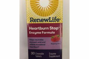 RASPBERRY HEARTBURN STOP ENZYME SUPPLEMENT FORMULA CHEWABLE TABLETS