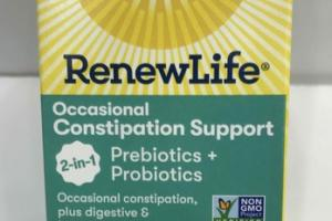 OCCASIONAL CONSTIPATION SUPPORT PREBIOTICS + PROBIOTICS SUPPLEMENT VEGETARIAN CAPSULES