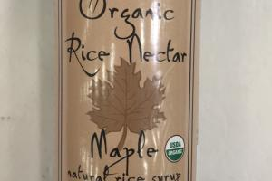 Organic Rice Nectar Maple Natural Rice Syrup