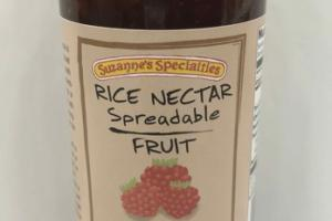 GLUTEN-FREE RASPBERRY RICE NECTAR SPREADABLE FRUIT