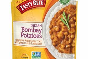 MEDIUM INDIAN BOMBAY POTATOES CHICKPEAS & POTATOES SLOW-COOKED WITH SPICES IN A ZESTY TOMATO SAUCE