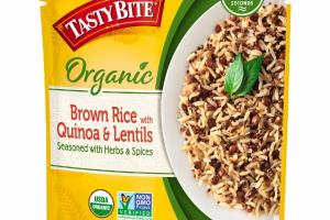 BROWN RICE WITH QUINOA & LENTILS SEASONED WITH HERBS & SPICES
