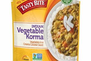 INDIAN VEGETABLE KORMA IN A CREAMY COCONUT SAUCE