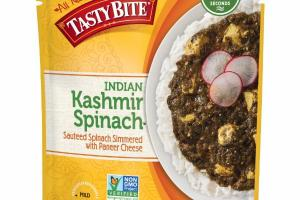 MILD INDIAN KASHMIR SPINACH SAUTEED SPINACH SIMMERED WITH PANEER CHEESE