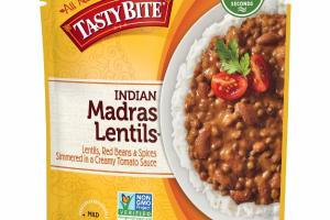 INDIAN MADRAS LENTILS, RED BEANS & SPICES SIMMERED IN A CREAMY TOMATO SAUCE