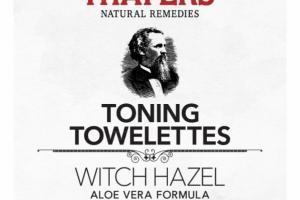 WITCH HAZEL ALOE VERA FORMULA TONING TOWELETTES, LEMON