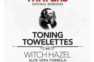 WITCH HAZEL TONING TOWELETTES, ALOE VERA FORMULA, ROSE PETAL