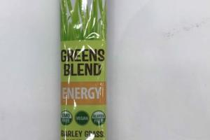 BARLEY GRASS, WHEAT GRASS & CHLORELLA ENERGY GREENS BLEND NUTRITIONAL SUPPLEMENT POWDERED DRINK MIX