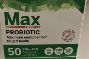 MAX E-Z PACKS MAXIMUM REINFORCEMENT FOR GUT HEALTH PROBIOTIC SUPPLEMENT