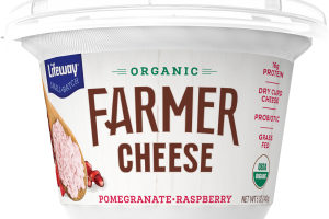 POMEGRANATE RASPBERRY ORGANIC FARMER CHEESE